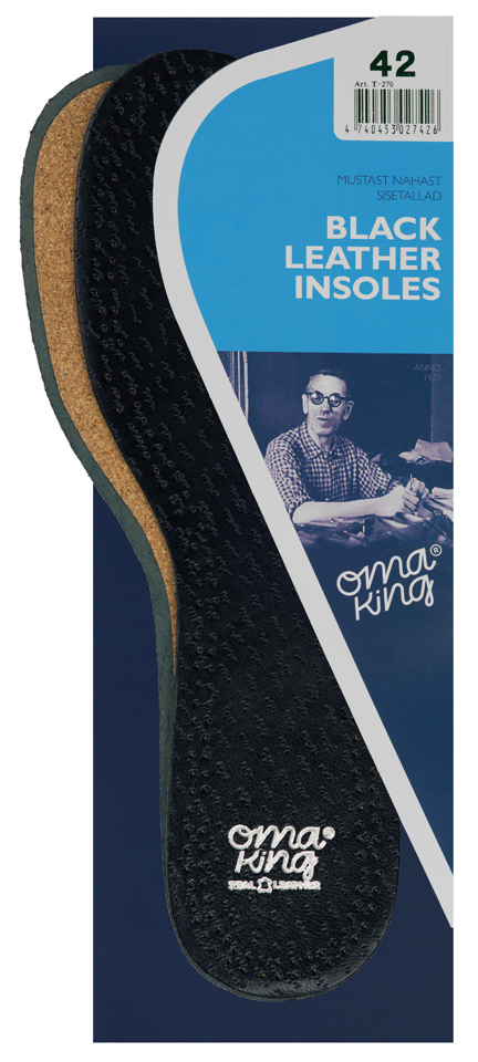 OmaKing Black Leather Insoles