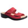 OmaKing ergonoomilise sisetallaga nahast sandaalid punane