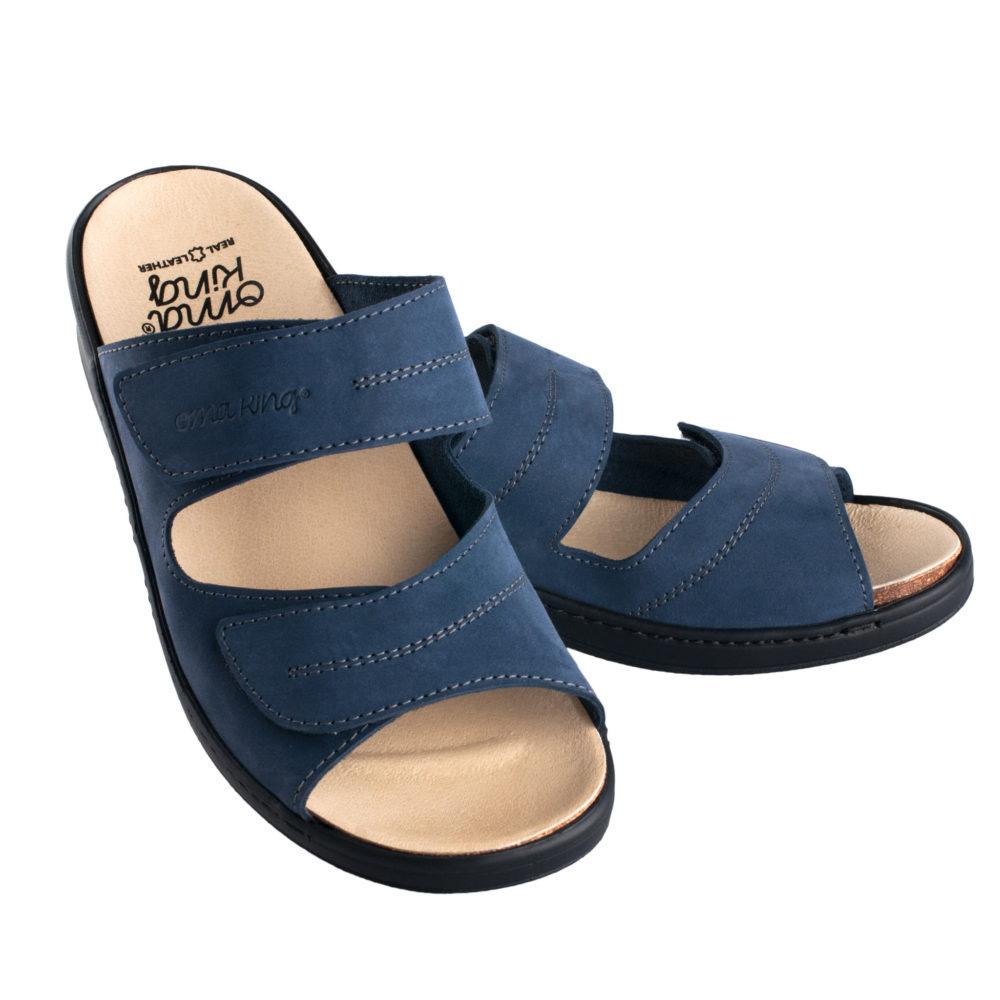 OmaKing ergonoomilise sisetallaga nahast sandaalid sinine