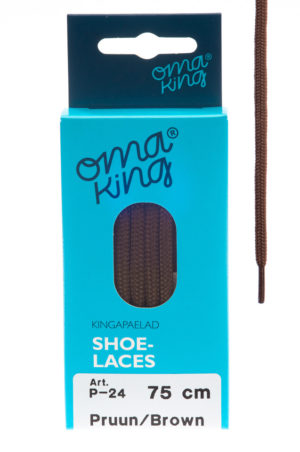 OmaKing shoelaces P-24 brown