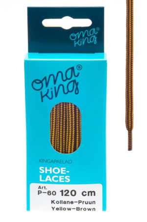 omaking shoelaces p-60 yellow-brown