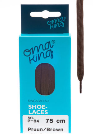 OmaKing shoelaces p-64 brown