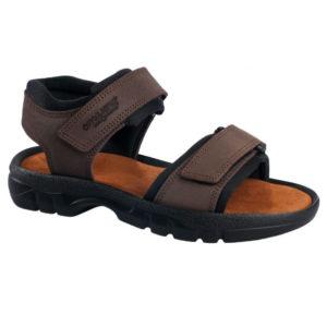 OmaKing kahe takjakinnisega sandaalid Tiidu pruun