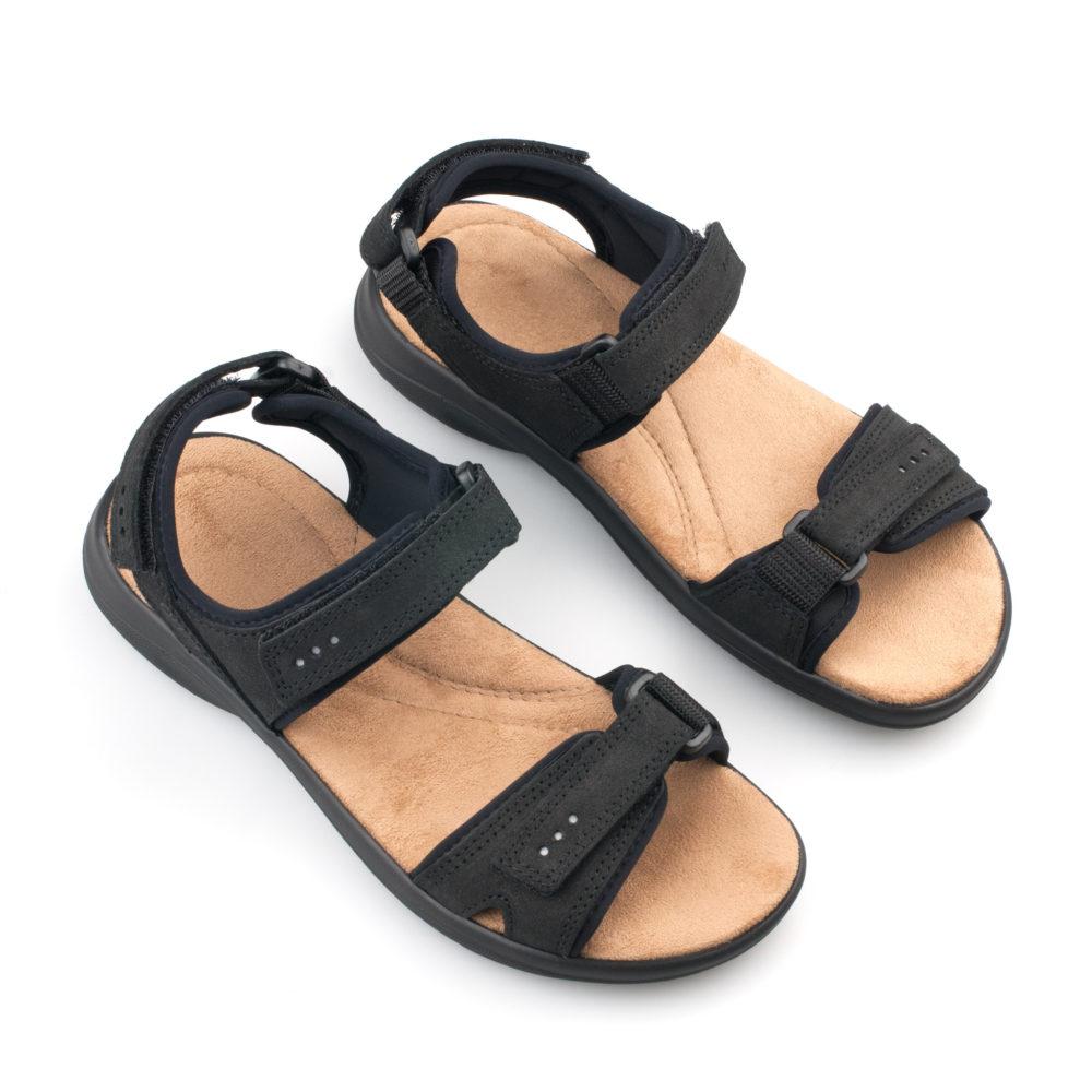 OmaKing kerged sportlikud nahast sandaalid Liiva must