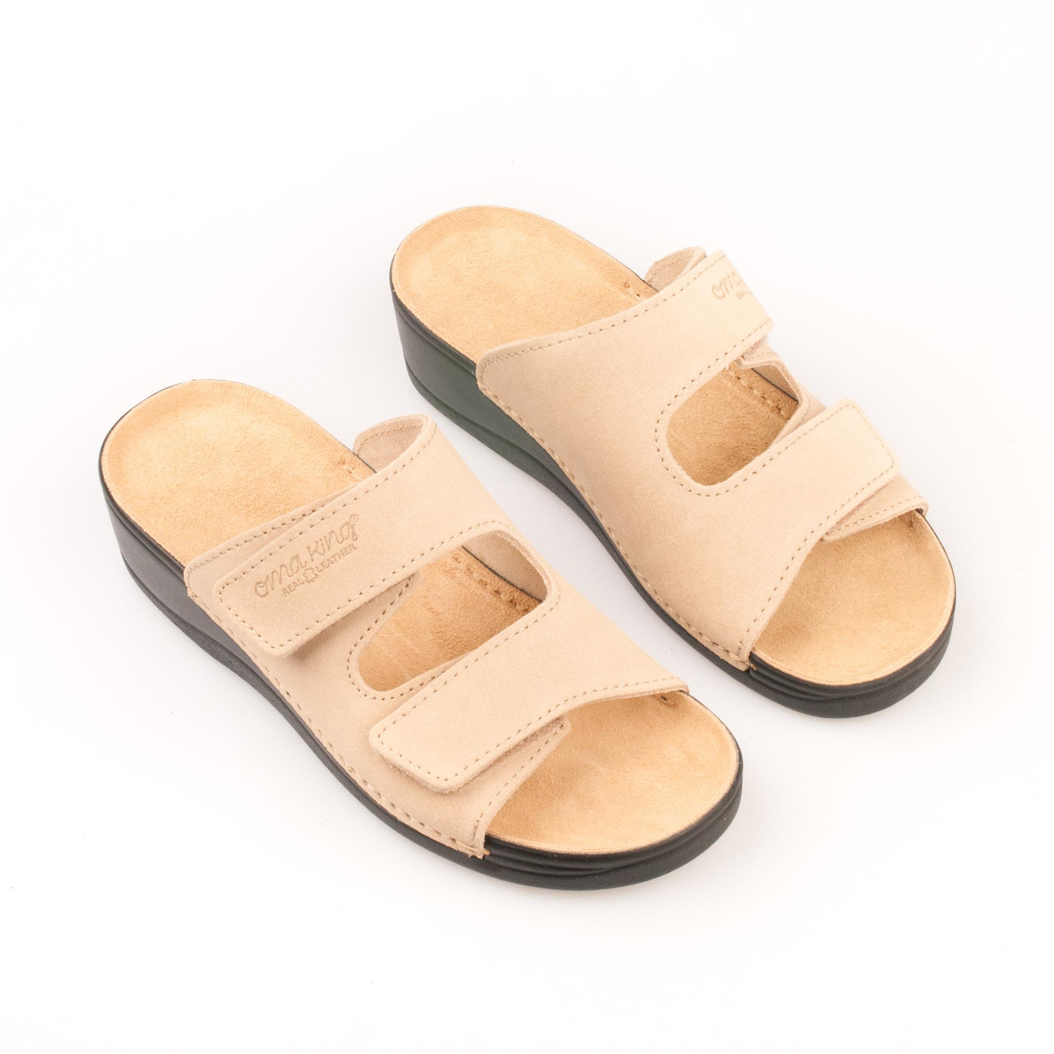 fa851a33360 OmaKing kiilkontsaga nahast sandaalid Illi beež. OmaKing kiilkontsaga ...