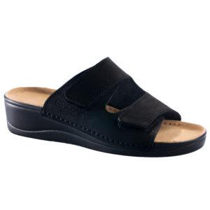 OmaKing kiilkontsaga nahast sandaalid Illi must