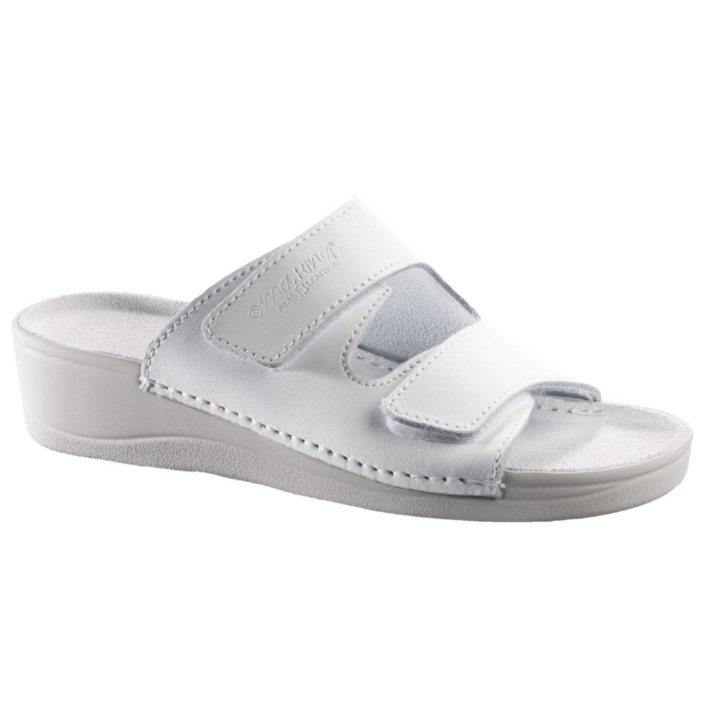 OmaKing kiilkontsaga nahast sandaalid Illi valge