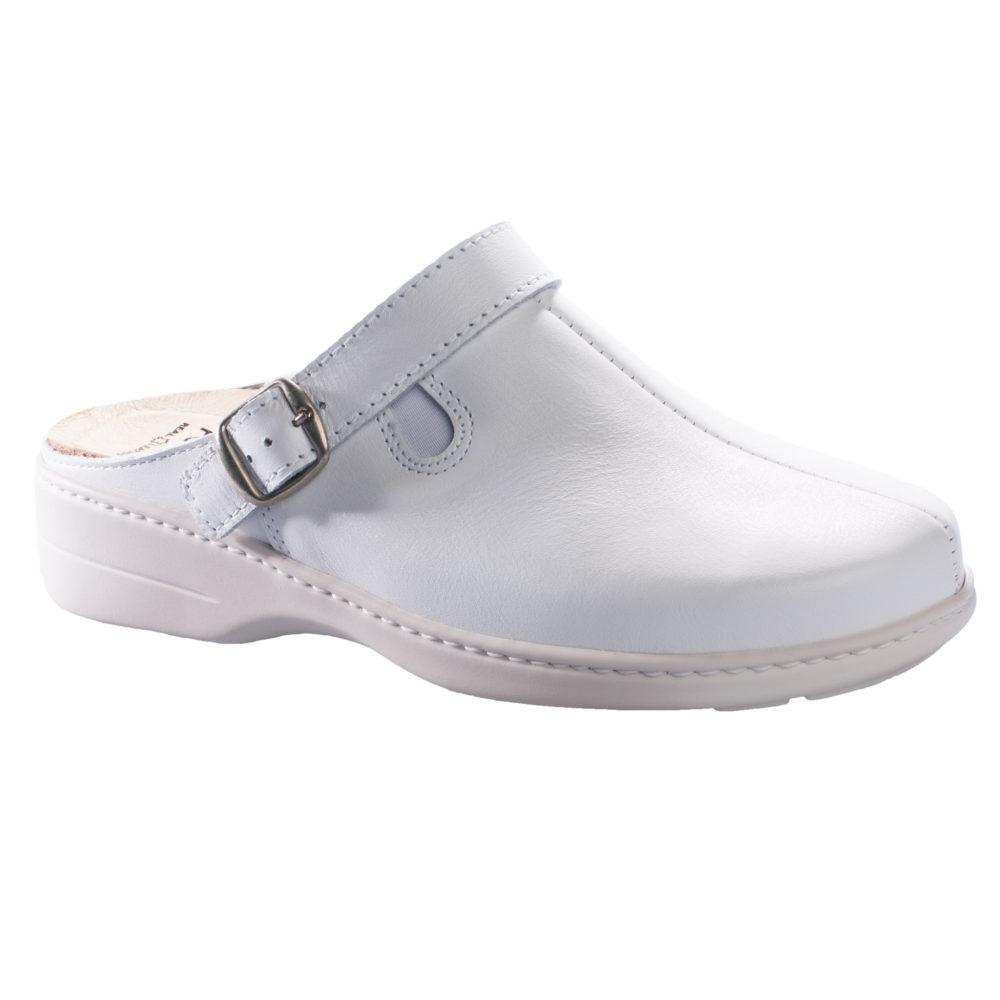 OmaKing kinnise ninaosaga nahast sandaalid Loosu valge