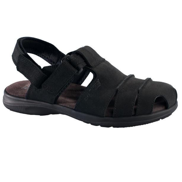 OmaKing kinnise ninaosaga nahast sandaalid Tootsi must