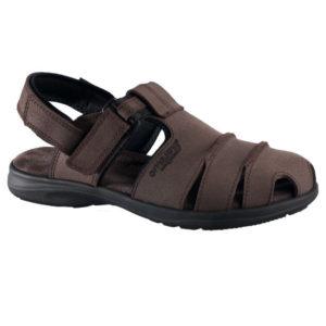 OmaKing kinnise ninaosaga nahast sandaalid Tootsi pruun