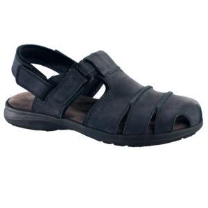 OmaKing kinnise ninaosaga nahast sandaalid Tootsi tumesinine