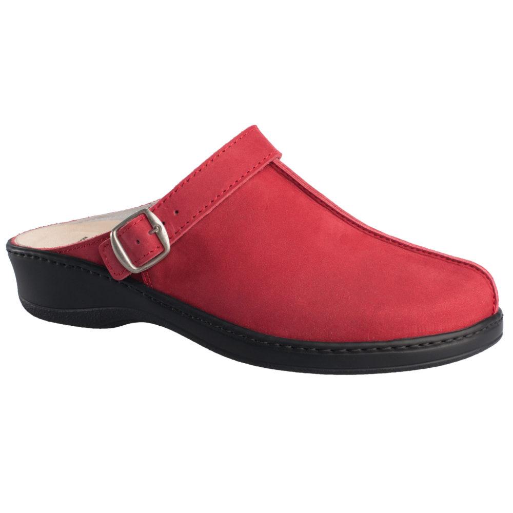 OmaKing kinnised nubuknahast sandaalid punane