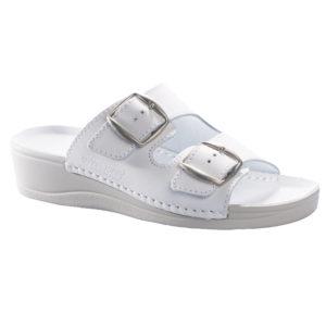 OmaKing klassikalised kiilkontsaga sandaalid Anne valge