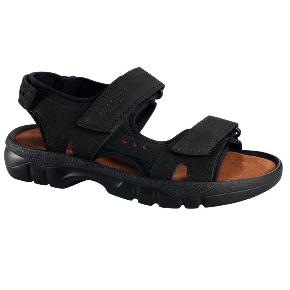 OmaKing sportlikud nahast sandaalid Lauri must