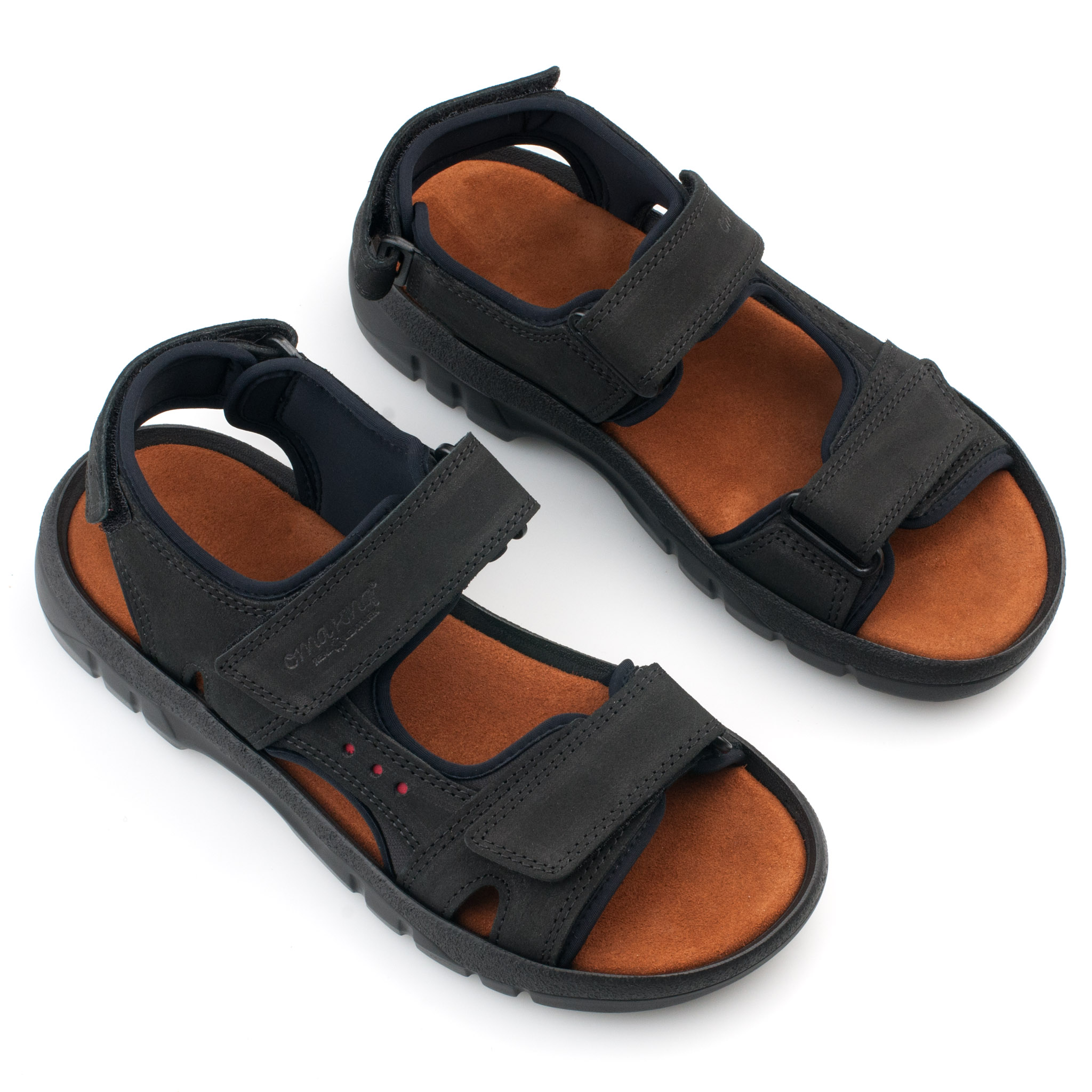 83c78a47ed1 OmaKing sportlikud nahast sandaalid Lauri must. OmaKing sportlikud ...