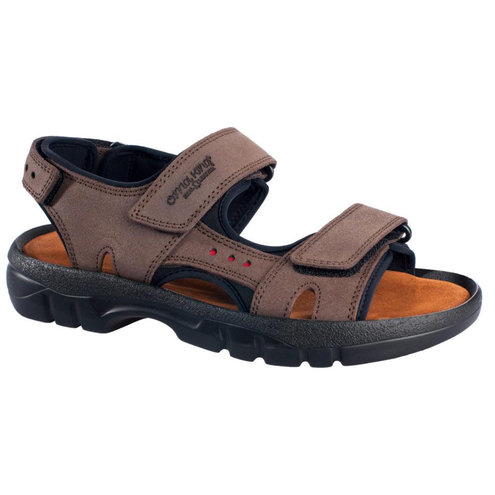OmaKing sportlikud nahast sandaalid Lauri pruun