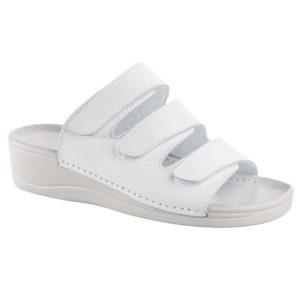 OmaKing takjakinnistega nahast sandaalid Laisi valge