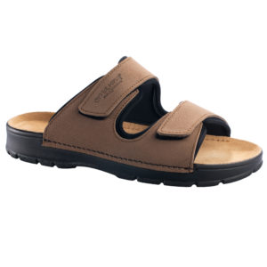 OmaKing takjakinnistega nahast sandaalid Madise khaki
