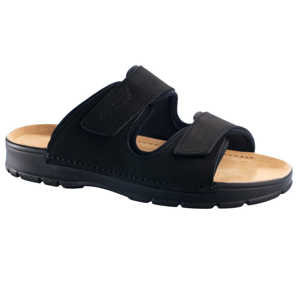 OmaKing takjakinnistega nahast sandaalid Madise must