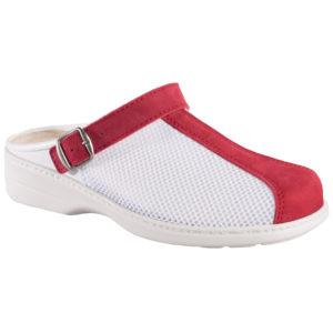 OmaKing tekstiilist pealse ja nahast ninaosaga sandaalid punane