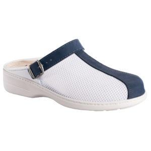 OmaKing tekstiilist pealse ja nahast ninaosaga sandaalid