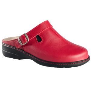 OmaKing tekstiilvoodriga nahast sandaalid Kossa punane