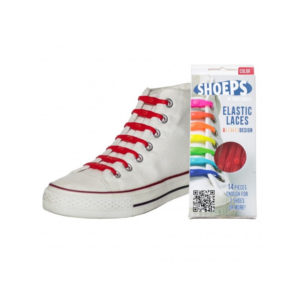 SHOEPS elastic laces red